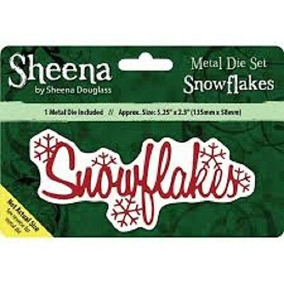 Sheena Douglass SNOWFLAKES - Xmas Sentiment Die
