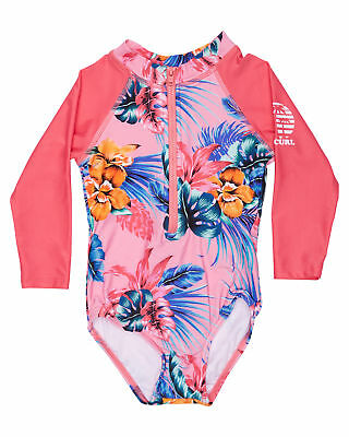 New Rip Curl Surf Girls Tots Girls Tropex Ls Surf Suit Long Sleeve Polyester
