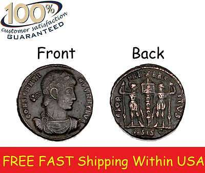Ancient Coin CONSTANTINE The GREAT BRONZE COIN IMPERIAL ROMAN EMPIRE collectors