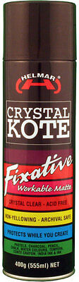 Helmar Crystal Kote Workable Fixative Matte Clear Varnish Spray 400g