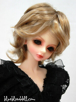 """1/4 1/6 bjd 6-7"""" head synthetic mohair 2 color mixed doll wig dollfie iplehouse"""