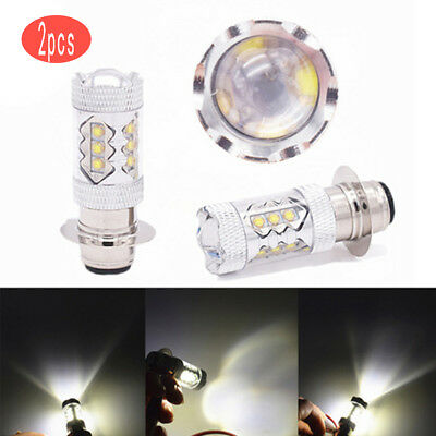 Cool White LED Headlights Bulbs 80W for Yamaha YFM/Banshee 350,Blaster 200 x2PC