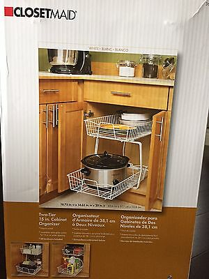 Closetmaid 2 Tier Sliding Pull Out Wire Baskets Kitchen Cabinet