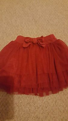 Baby Girls red tutu skirt 9-12months