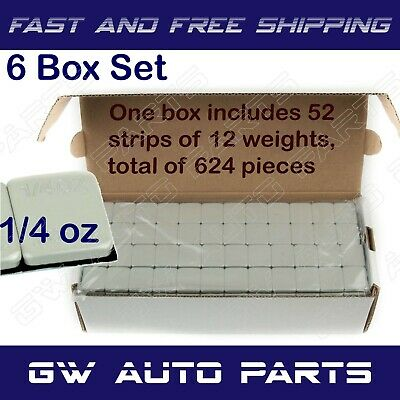 6 Box(9LB) 3456 Pieces 1/4OZ Wheel Weights Stick-on Adhesive Tape Lead Free