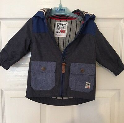 Next Coat 6-9 Months Baby Boy. Worn Once. Rrp £20. *i'll Combine Postage*