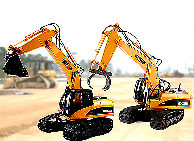 Remote Control Excavator Digger DIECAST RC Fork 16 Channel Control Construction