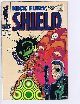 Nick Fury,Agent of SHIELD #5  Marvel 1968