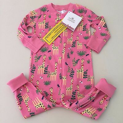 HANNA ANDERSSON Beautiful Baby Girl's Giraffe Pajama Size 70 ( 9-12 months ) New