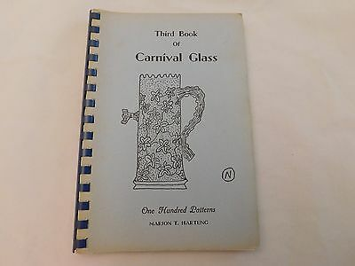 Third Book Of Carnival Glass - Hartung - Ca 1975