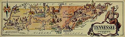 Tennessee Antique Vintage Pictorial Map