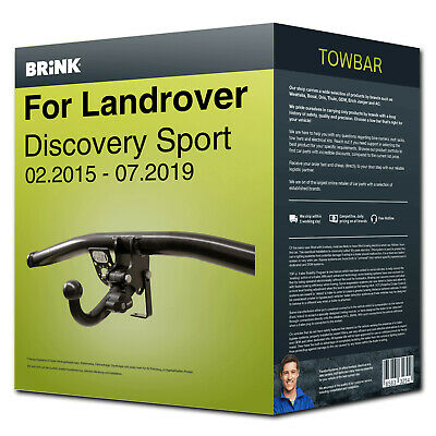 Towbar detachable ›LANDROVER Discovery Sport 15- Brink NEW EC 94/20 incl. manual
