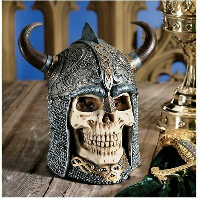 Ancient Authentic Replica Celtic Skull Warrior Helmet Statue By Gary Chang