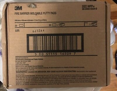 Box of 3M Fire Barrier Moldable Putty Pads, 20 in box