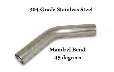 "3"" 76Mm 45 Degree Stainless Steel Mandrel Bend Elbow T304 Tight Radius 2D Clr"