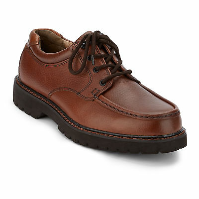 Dockers Men's Glacier Genuine Leather Stain Defender Oxford Shoe Dark Tan