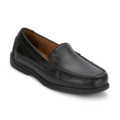 Dockers Men's Catalina Genuine Leather Slip-on Rubber Sole Loafer Shoe Black