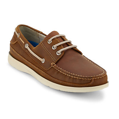 Dockers Men's Midship Genuine Leather Rubber Sole Boat Shoe Dark Tan