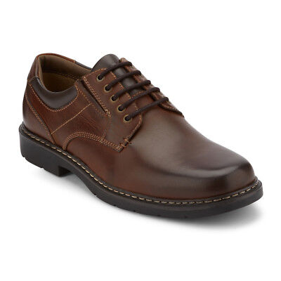 Dockers Men's Norwich Genuine Leather Rugged Oxford Shoe with NeverWet® Cognac