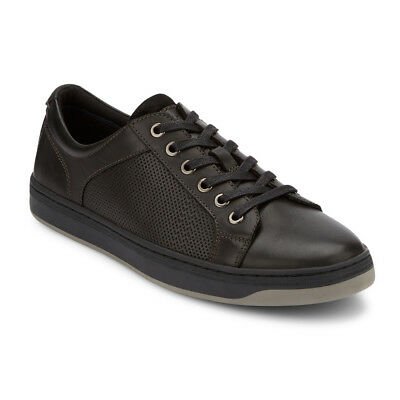Dockers Men's Kostner Leather Lace-up Rubber Sole Fashion Sneaker Shoe Black