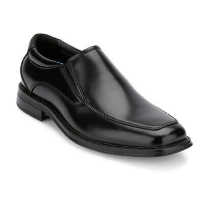 Dockers Men's Geary Leather Slip-on Oxford Shoe Black Non-Slip & Slip Resistant