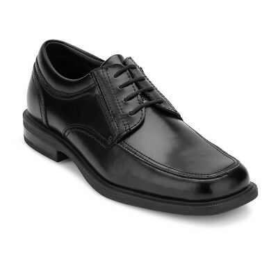 Dockers Men's Brigade Leather Non-Slip & Slip Resistant Oxford Shoe Black