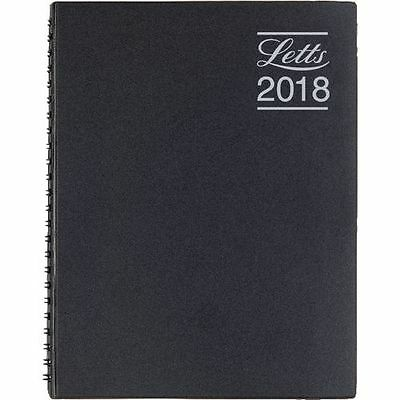Letts 2018 Diary A5 Day To Page Appointments Wirebound Black