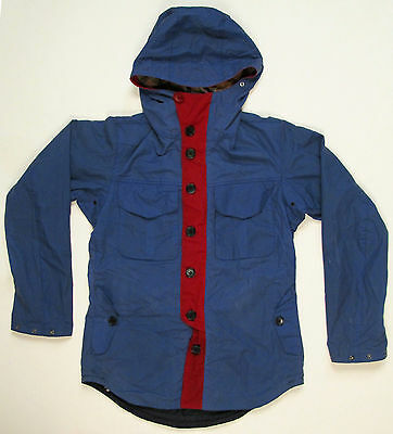 Barbour for Jcrew Collabor Beacon Brand TO KI TO Lightweight Jacket S Blue Red