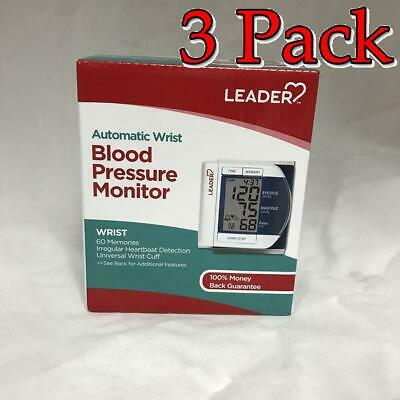 Leader Deluxe Automatic Wrist Blood Pressure Monitor, 3 Pack 096295129298F2953