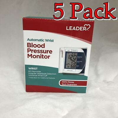 Leader Deluxe Automatic Wrist Blood Pressure Monitor, 5 Pack 096295129298F2953