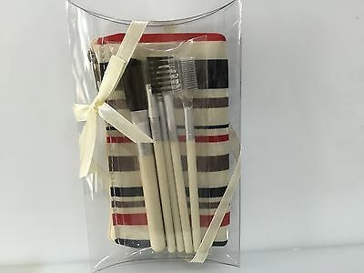 Cosmetic Makeup Brush Set With Wallet Case  5 Brushes