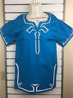 The Legend of Zelda Breath of the Wild Blue Link Tunic Cosplay US shipped
