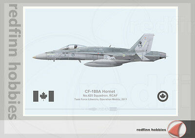 Warhead Illustrated CF-188A Hornet RCAF 425Sqn Operation Mobile Aircraft Print