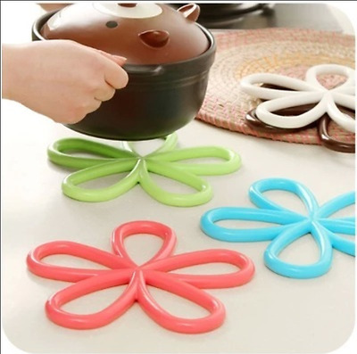 Silicone Kitchen Holder Mat Trivet Tray Straightener Heat Non-slip Resistant Hot
