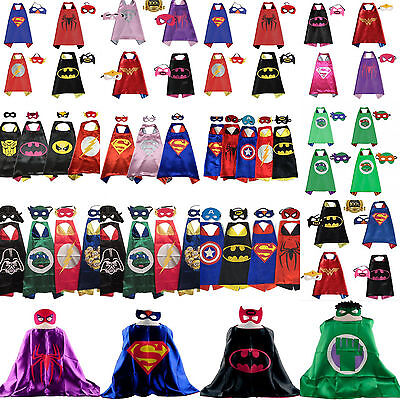 .Superhero Cape (1 cape+1 mask) for kids birthday party favors and ideas