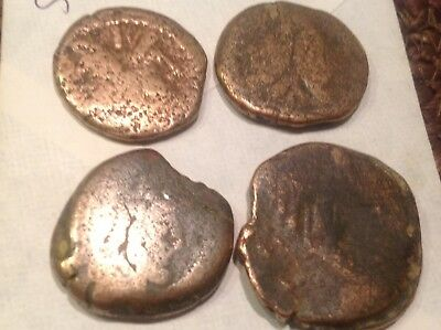 Authentic God Janus of War Bronze Roman coins low Lot.Metal detector finds S5