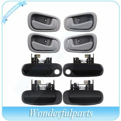 For 98-02 Corolla 8Pcs Door Handles Right Left Side Front & Rear Inside Outside