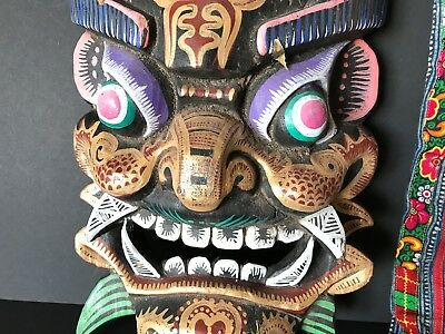 Old Balinese Mask / Wall Hanging …beautiful colour, great collection item
