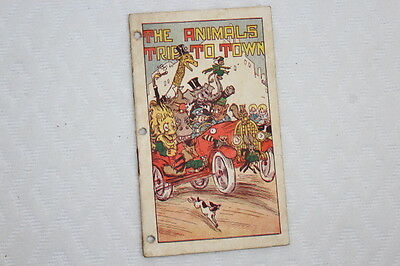 """Early 1900's Hires Household Extract Booklet """"The Animals Trip to Town"""""""