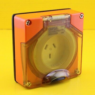 Clipsal 56SO310ALE Automatic Switched Socket Outlet 250V 10A Orange NO ENCLOSURE