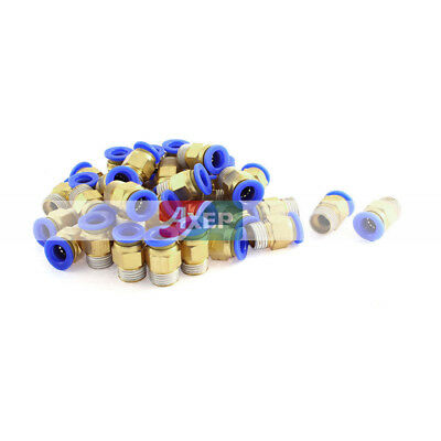 40Pcs 1/4BSP Male Thread to 8mm Hose Air Pneumatic Coupler Pipe Connector