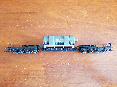 Fleischmann Vintage Heavy Lift Wagon + Load Excellent Cond Unboxed Ho Gauge(Cd)
