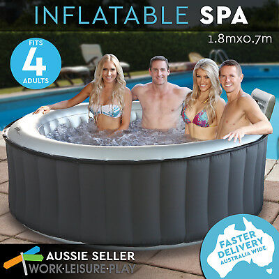 NEW Inflatable Spa Outdoor Portable Digital Control Hot Tub Massage Bath Pool