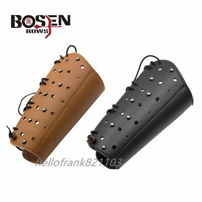 Genuine Leather Protective Armguard for Archery Longbow Hunting Laminated Bow