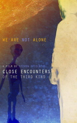 "003 CLOSE ENCOUNTERS OF THE THIRD KIND - UFO Classic Movie 24""x38"" Poster"