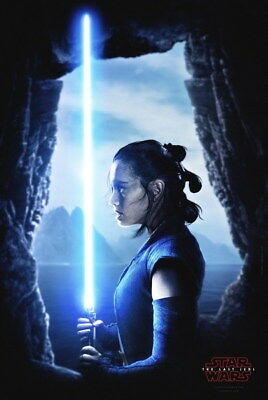 "026 Star Wars The Last Jedi - Daisy Ridley Action USA 2017 Movie 24""x35"" Poster"