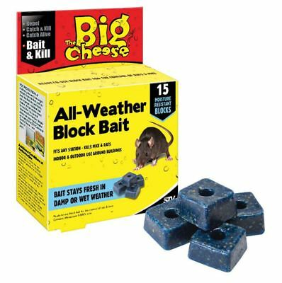 New 15 Block Bait Cheese Weather Killer Rat Poison Free Mouse Rodent Home Indoor