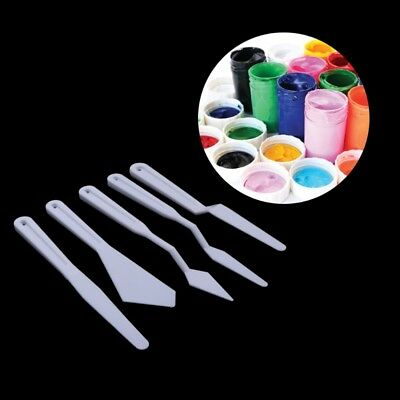 5Pcs Plastic Palette Knife Knives Set Artist Oil Paints Painting Mixing New