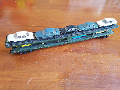Lima German Db Car Carrier With Cars Very Good Condition Unboxed Ho Gauge(Cd)