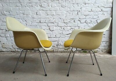 2x EAMES DAX LAX ARM LOUNGE CHAIR STUHL CHAISE HERMAN MILLER for VITRA 70's